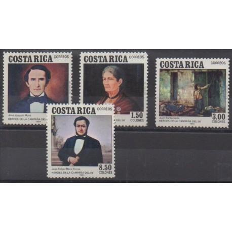 Costa Rica - 1984 - Nb 377/380 - Paintings