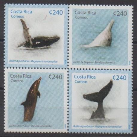 Costa Rica - 2008 - Nb 863/866 - Mamals - Sea life
