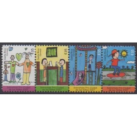 Costa Rica - 2007 - Nb 852/855 - Children's drawings