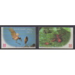 Costa Rica - 1995 - Nb 599/600 - Animals - Endangered species - WWF