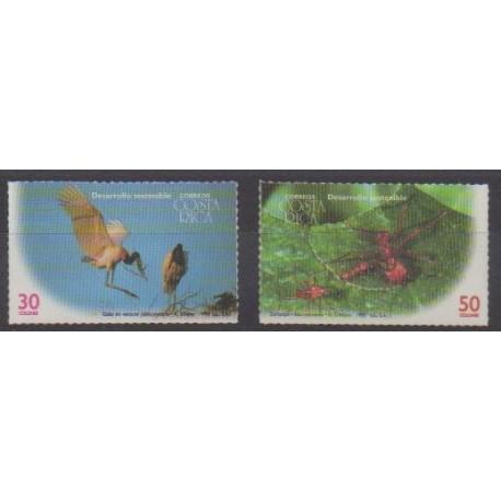 Costa Rica - 1995 - Nb 599/600 - Animals - Endangered species - WWF