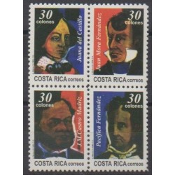 Costa Rica - 1996 - Nb 607/610 - Celebrities