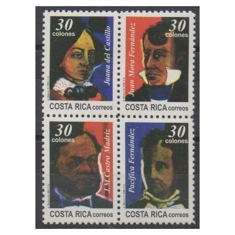 Costa Rica - 1996 - Nb 607/610 - Celebrities