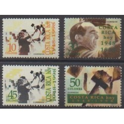 Costa Rica - 1998 - Nb 626/629 - Various Historics Themes
