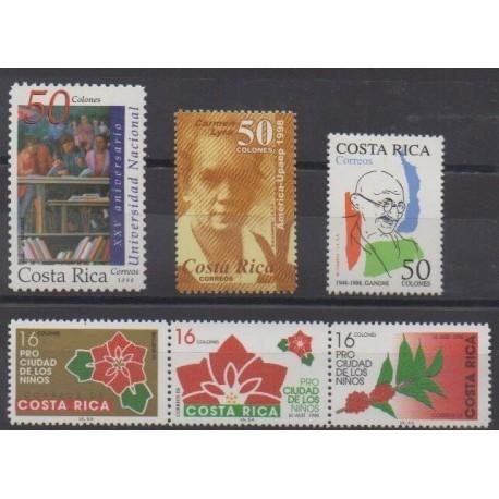 Costa Rica - 1998 - Nb 641/646