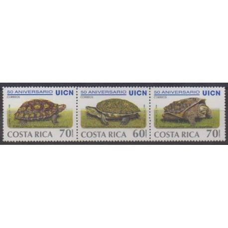 Costa Rica - 1999 - Nb 646A/646C - Reptils