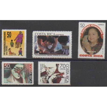 Costa Rica - 1999 - Nb 651/655