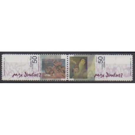 Costa Rica - 2000 - Nb 679/680 - Paintings