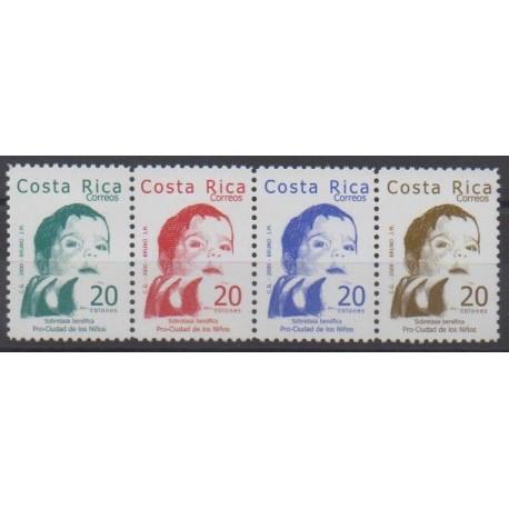 Costa Rica - 2000 - Nb 681/684 - Childhood