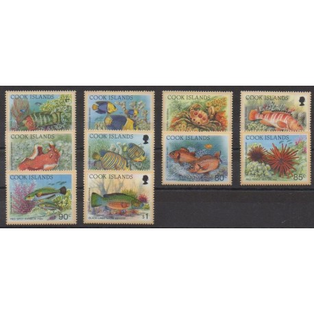 Cook (Islands) - 1994 - Nb 1119/1128 - Sea life