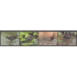 Cook (Islands) - 2014 - Nb 1620/1623 - Birds - Endangered species - WWF