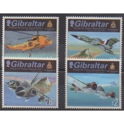 Gibraltar - 2012 - Nb 1476/1479 - Planes - Helicopters