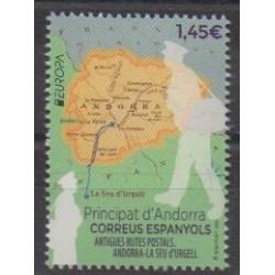 Andorre espagnol - 2020 - No 484 - Service postal - Europa