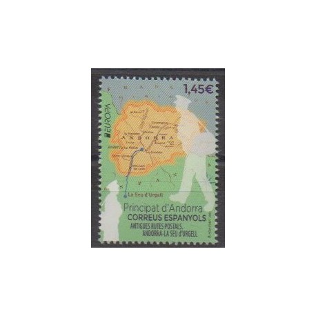 Spanish Andorra - 2020 - Nb 484 - Postal Service - Europa