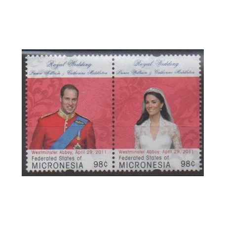 Micronesia - 2011 - Nb 1842/1843 - Royalty