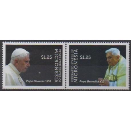 Micronesia - 2012 - Nb 1032/1033 - Pope