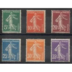 France - Poste - 1907 - Nb 137/142