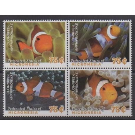 Micronesia - 2014 - Nb 2176/2179 - Sea life