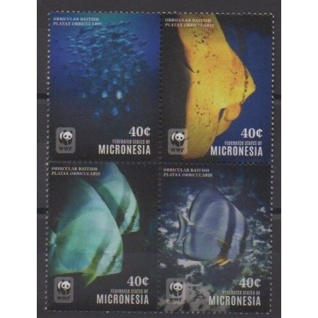 Micronesia - 2014 - Nb 2179E/2179H - Sea life - Endangered species - WWF