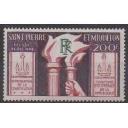 Saint-Pierre and Miquelon - Airmail - 1959 - Nb PA26 - Various Historics Themes