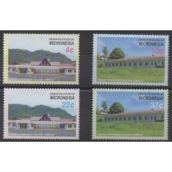 Micronesia - 2005 - Nb 1423/1426 - Architecture