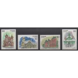 Japon - 1982 - No 1399/1400 - 1403/1404 - Architecture