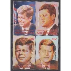 Micronesia - 2002 - Nb 1130/1133 - Celebrities