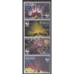 Micronesia - 2005 - Nb 1415/1418 - Sea life - Endangered species - WWF