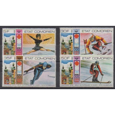 Comoros - 1976 - Nb 138/141 - Winter Olympics