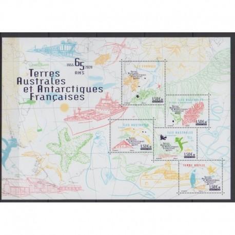 French Southern and Antarctic Lands - Blocks and sheets - 2020 - 65 ans des TAAF - Various Historics Themes