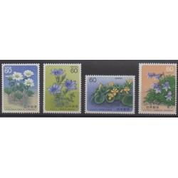 Japan - 1985 - Nb 1547/1548 - 1558/1559 - Flowers