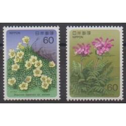 Japan - 1986 - Nb 1571/1572 - Flowers