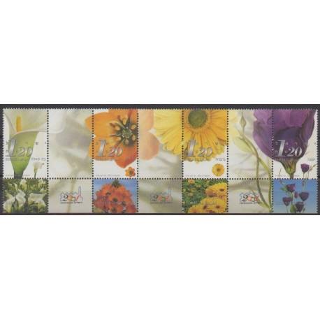 Israel - 2001 - Nb 1550/1553 - Flowers