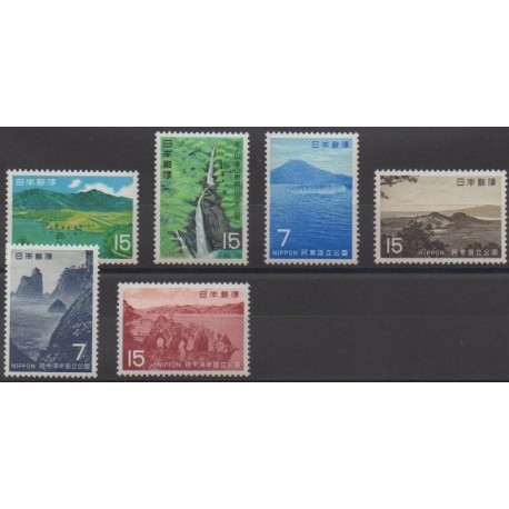Japan - 1969 - Nb 951/952 - 955/956 - 967/968 - Parks and gardens