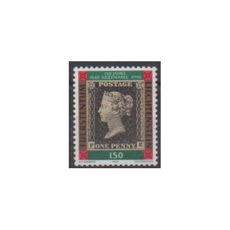Lienchtentein - 1990 - Nb 927 - Stamps on stamps