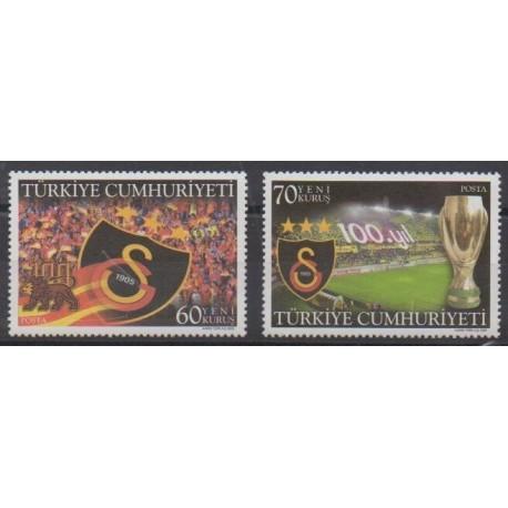 Turkey - 2005 - Nb 3206/3207 - Football