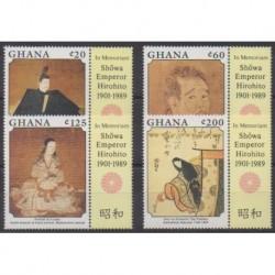 Ghana - 1989 - No 1011/1014 - Histoire - Peinture