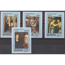 Ghana - 1992 - No 1406/1409 - Peinture - Noël
