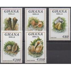 Ghana - 1992 - Nb 1397/1401 - Sea life