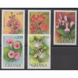 Ghana - 1992 - Nb 1431/1435 - Flowers