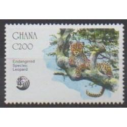 Ghana - 1992 - Nb 1425 - Mamals - Endangered species - WWF