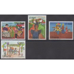 Ghana - 2003 - Nb 2923/2926 - Christmas - Children's drawings