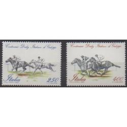 Italie - 1984 - No 1621/1622 - Chevaux