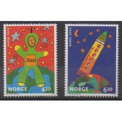 Norvège - 2000 - No 1310/1311 - Dessins d'enfants
