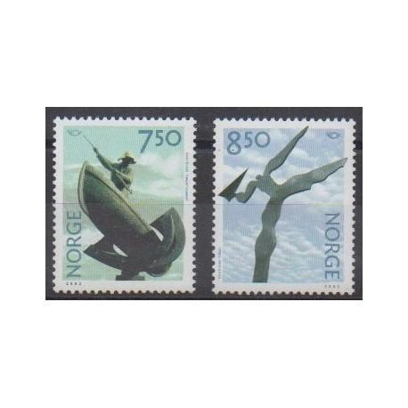 Norway - 2002 - Nb 1369/1370 - Art