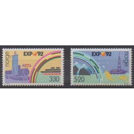 Norvège - 1992 - No 1051/1052 - Exposition