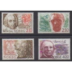 Norway - 1986 - Nb 910/913 - Celebrities
