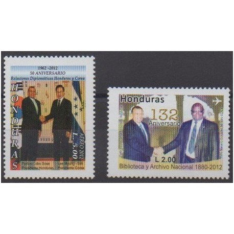 Honduras - 2012 - No PA1358/PA1359 - Histoire