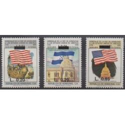 Honduras - 1992 - Nb PA796/PA798 - Various Historics Themes - Flags