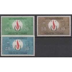 Laos - 1968 - No 171/173 - Droits de l'Homme
